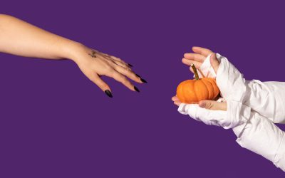 it's spooky season! two ways we love using Halloween hands in content