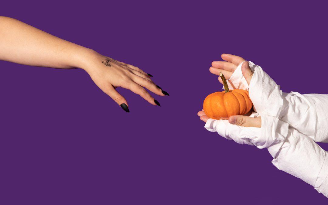 it's spooky season! two ways we love using Halloween hands in content