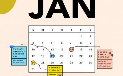 soona's January content calendar