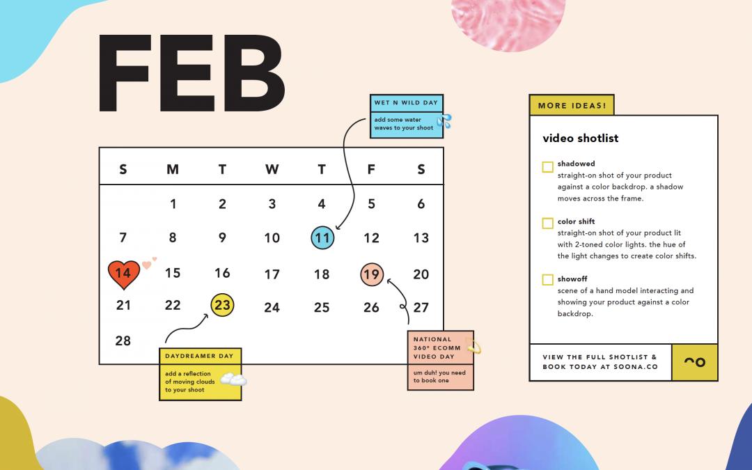 soona's February content calendar